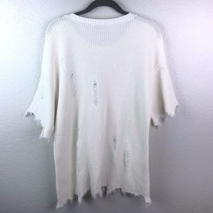 Vince Camuto Sweaters - Vince Camuto Sz L Ripped Distressed Sweater